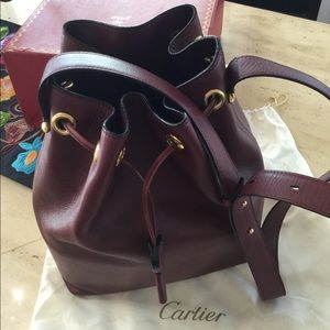 Cartier leather Bucket Handbag